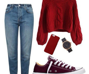 iphone, jeans, and outfit image