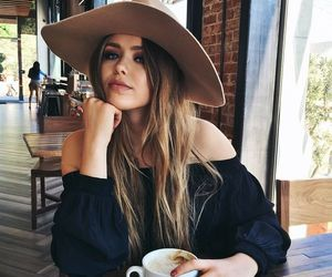 girl, coffee, and hat image
