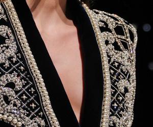 Balmain, black, and pearls image