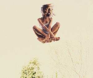 girl, jump, and pretty image