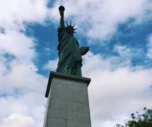 france, paris, and statue of liberty image