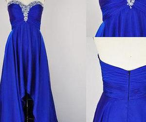 prom gown, blue prom dresses, and vestido de fiesta image