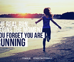 run, beach, and fitness image