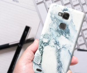 etsy, huawei ascend y600, and marble case image