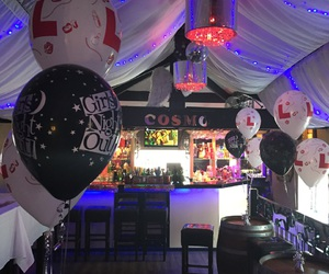 balloons, party, and bar image