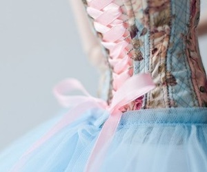 dress, blue, and pink image