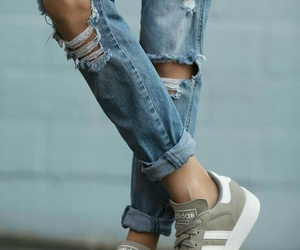 casual, denim, and ripped image
