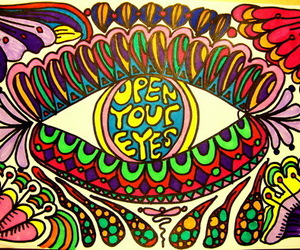 eyes, trippy, and lsd image