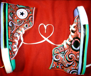converse, all star, and heart image