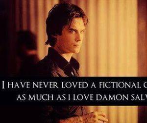 damon salvatore, love, and ian somerhalder image