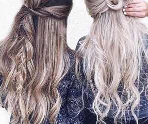 hair, hairstyle, and friends image