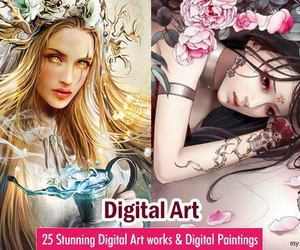 art, digital art, and digital painting image