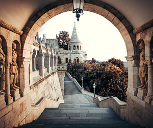 travel, architecture, and budapest image
