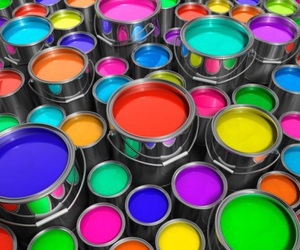 paint, rainbow, and colorful image