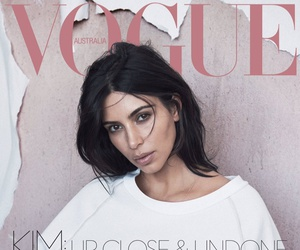 kim kardashian, vogue, and magazine image