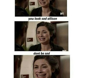 funny, teen wolf, and crystal reed image