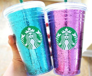 starbucks, blue, and drink image