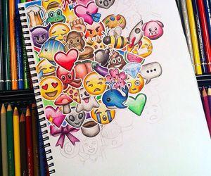art, drawing, and emojis image