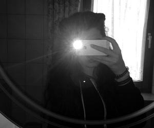 black white, handy, and mirror image