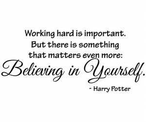 quote, harry potter, and believe image