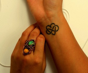 heart, tattoo, and wrist image
