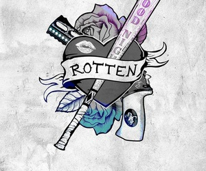 harley quinn, suicide squad, and rotten image