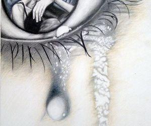 art, eye, and tears image