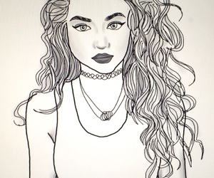 curls, outlines, and curlyhair image