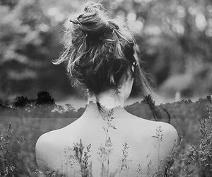 black&white, photography, and girl image