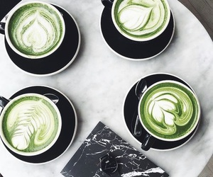 green, coffee, and drink image