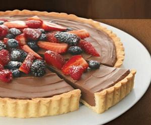 tarts, strawberries chocolate, and nutella desert food image
