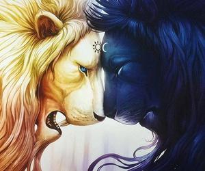 lion, sun, and moon image