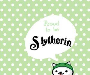 slytherin, harry potter, and cat image
