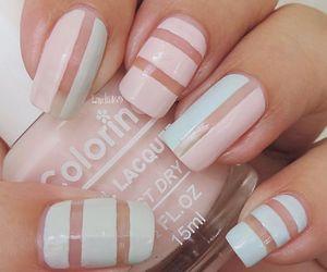 nails, nail art, and pastel colors image