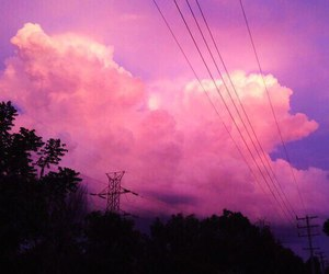 clouds, nature, and love image