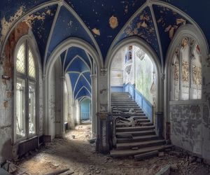 abandoned, castle, and house image