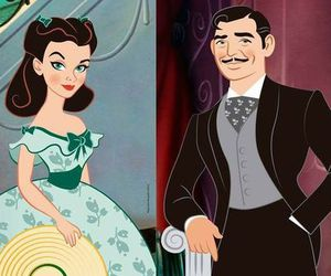 clark gable, Gone with the Wind, and vivien leight image