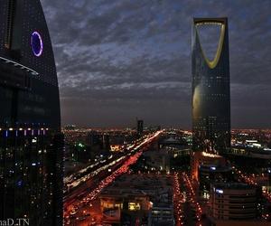 city, lights, and ksa image