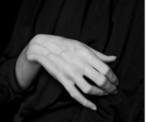 hand, black, and black and white image