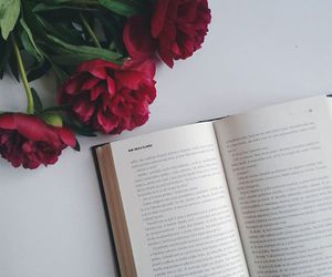 book, flowers, and inspiration image