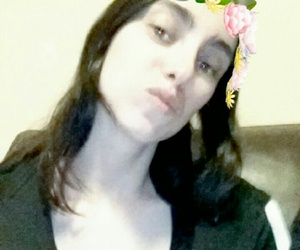 flowers, messing around, and snapchat image