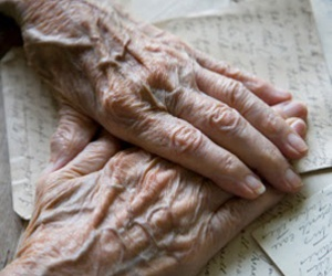 hands, letters, and old age image