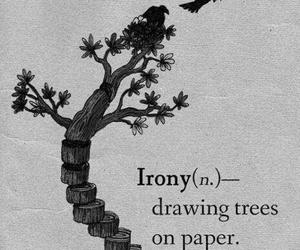 irony, tree, and Paper image