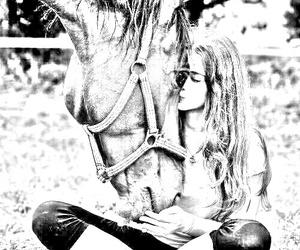 amazing love horse girl image