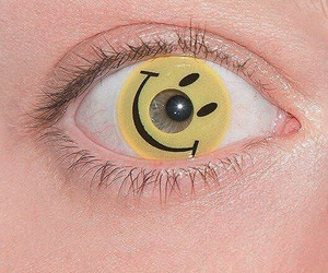 eye, grunge, and happy image
