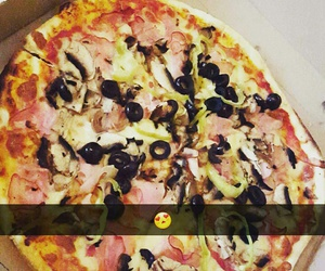food, good, and pizza image