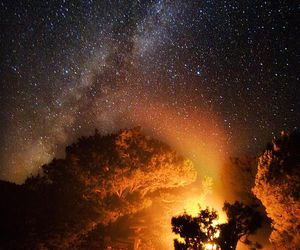 milky way, sky, and space image
