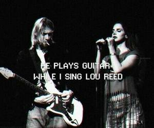 kurt cobain, lana del rey, and black and white image