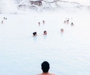 blue lagoon and iceland image