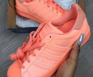 adidas, shoes, and orange image